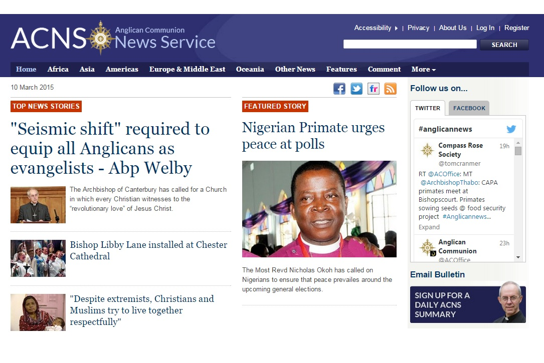 Anglican Communion News Service