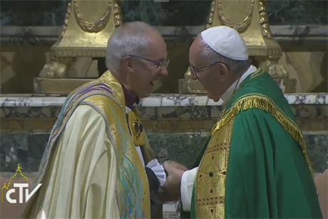 Pope Francis and Archbishop Welby